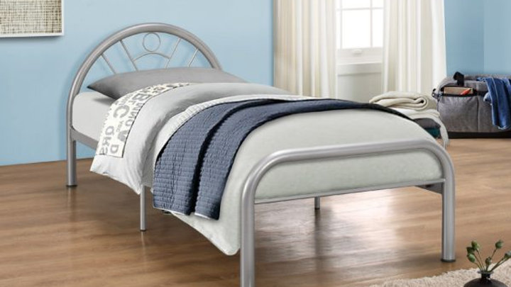 Classic Children's Single 3FT Silver Metal Bed Frame