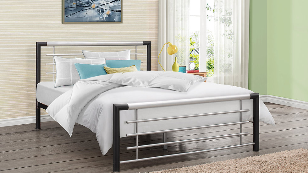 NEW Modern Sleek Steel Bedframe available in 3FT, 4FT & 4FT6