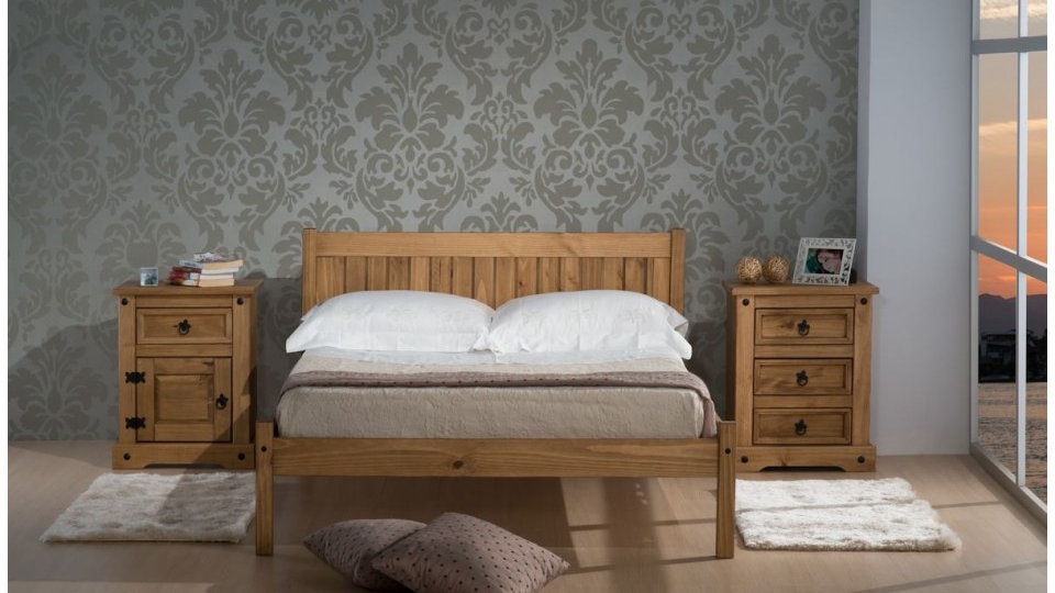 Rio Waxed Pine Bed Frame