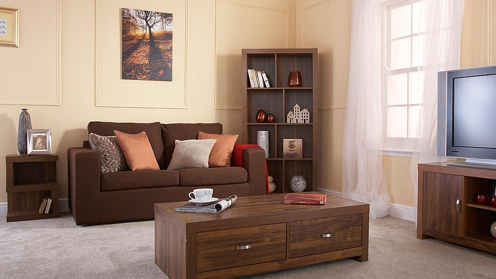 Luxury Living Room Furniture Set Acacia Effect Coffee Table Sideboard TV Stand