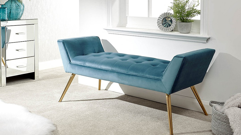 Classic Turin Window Seat available in Teal, Russet & Pink