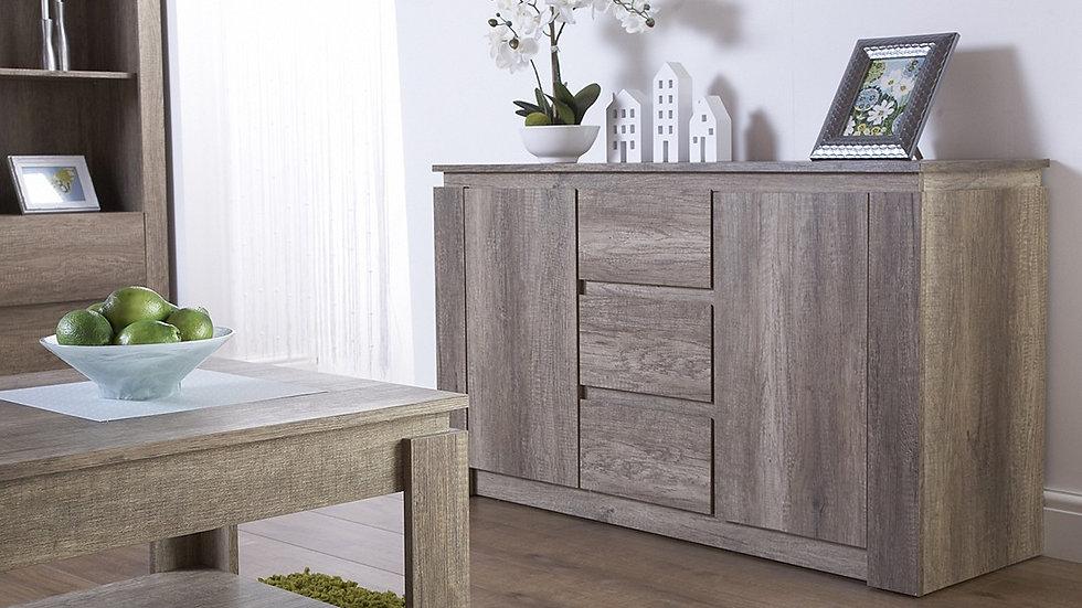 Unique Oak Effect Luxury Sideboard Stylish Living Room Furniture