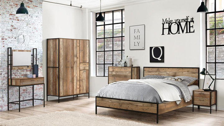 NEW Rustic Urban Industrial Wooden Chic Bed Frame