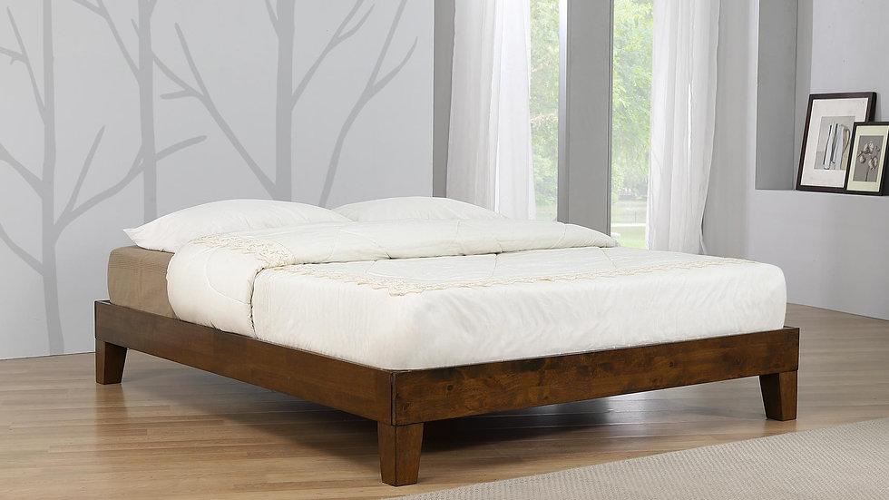 Rustic Oak Charlie Platform Bed Frame available in 3FT, 4FT6 & 5FT