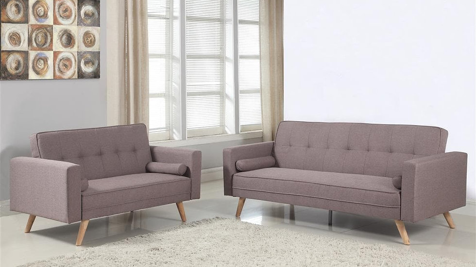 NEW Contemporary Medium & Large Sofa Bed with Buttoned Detailing