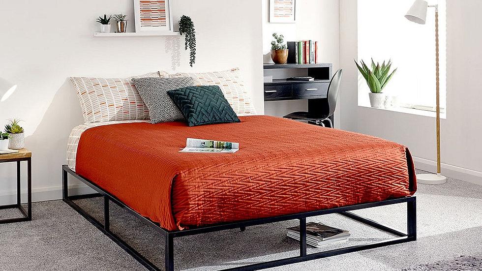 New Sleek Black Steel Minimalist Platform Bed Frame