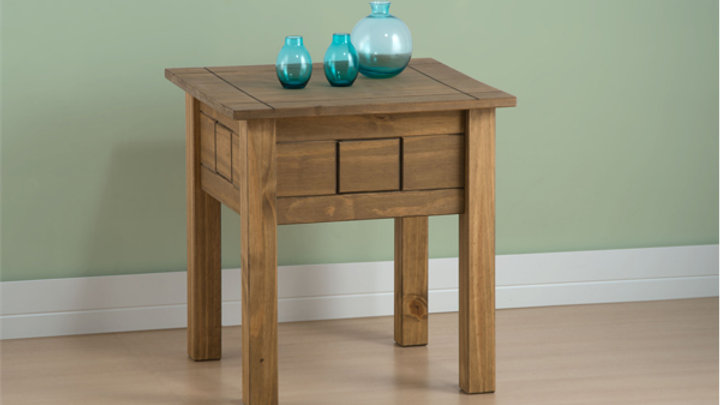 New Rustic Oak Individual Lamp Table
