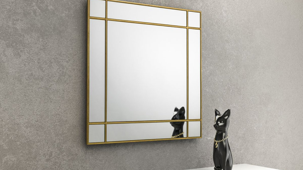 Nine Panelled Fortissimo Square Mirror