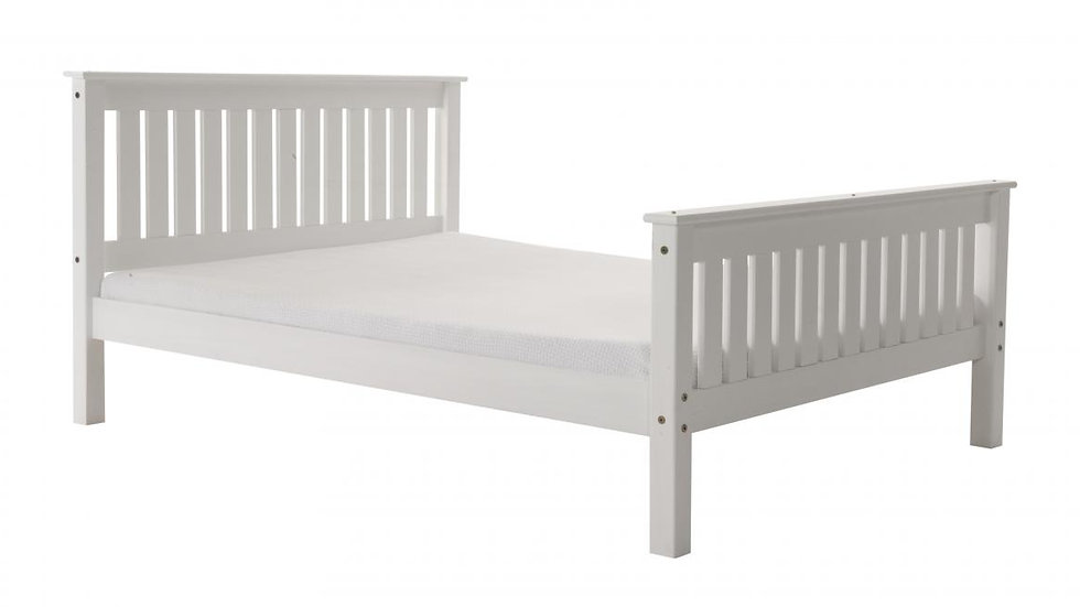4FT Small Double Manila High Foot End White Pine Bed