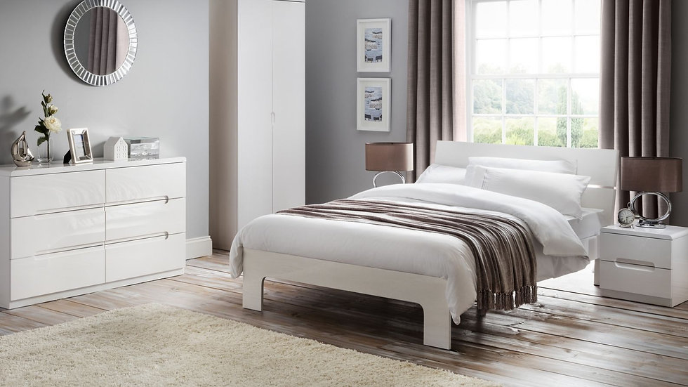 The New Modern Ultra Chic Manhattan Bedroom Collection In Stunning White Gloss