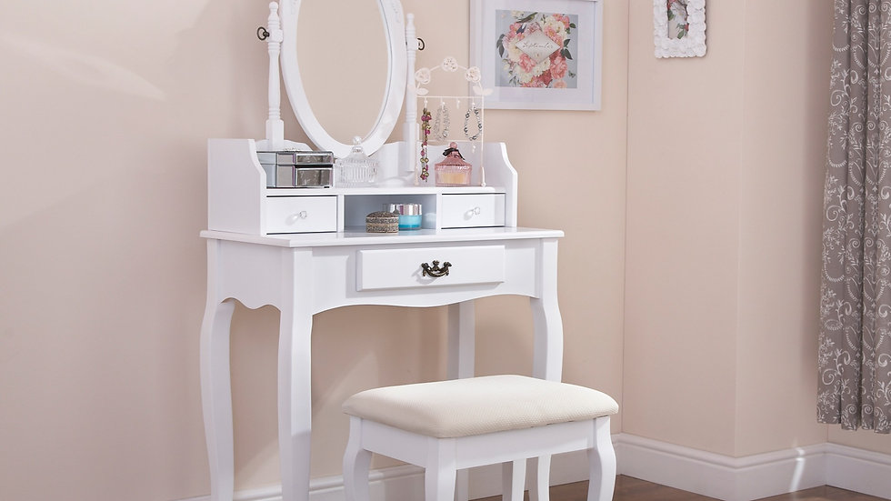 New Modern Style Traditional Dressing Table & Mirror Vanity Table