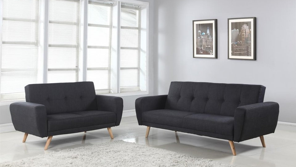 Farrow Classic Styled Sofa Bed Upholstered In Grey Fabric