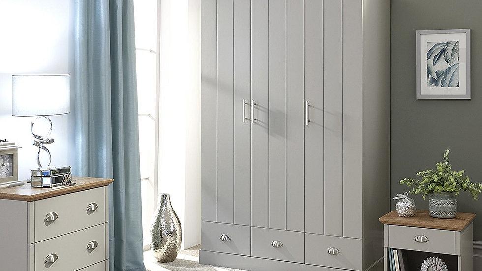 Classy Soft Grey Kendal Oak-effect Wooden Bedroom Furniture Range