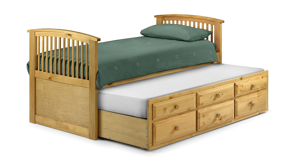 Hornblower Nautical Style Cabin Bed with Pull Out Trundle Bed
