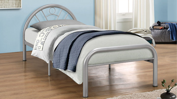 Modern 3ft Single Children's Metal Curved Design Bed Frame Curved Headboard
