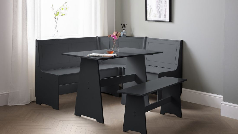 Classic Newport Corner Dining Set available in Anthracite, Dove Grey or White