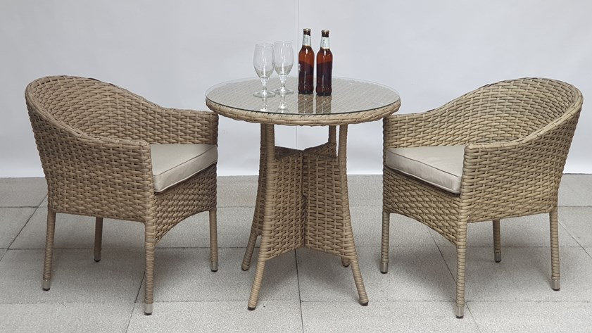 NEW Luxury Garden Bistro Set with Stacking or High Back Chairs