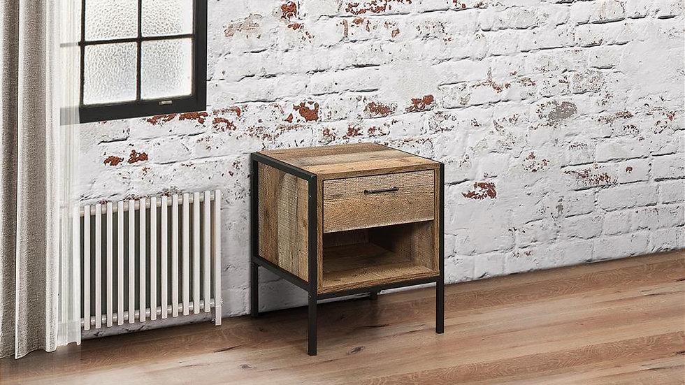 Luxury Urban 1 Drawer Bedside Table