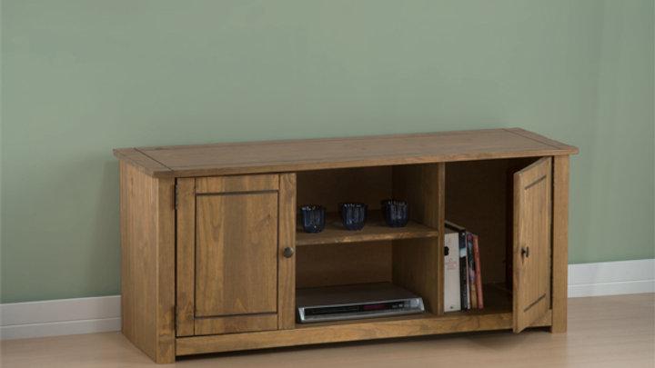New Rustic Oak 2 Door 1 Shelf Flat Screen TV Unit