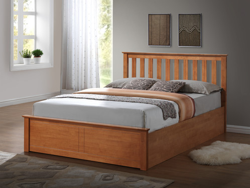 Wooden Ottoman Storage Bed Solid Base - Wooden Ottoman Storage Bed Solid Base FTA Furnishing Furniture