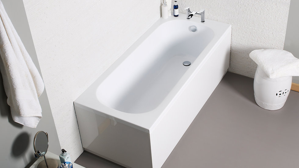 Rhine Encapsulated Base-Board Bath (Size Options) With Mixer Tap