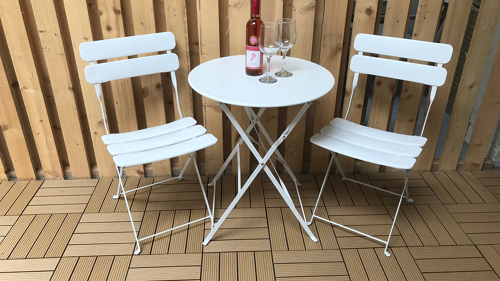 NEW Stylish and Classic Bistro Set in White