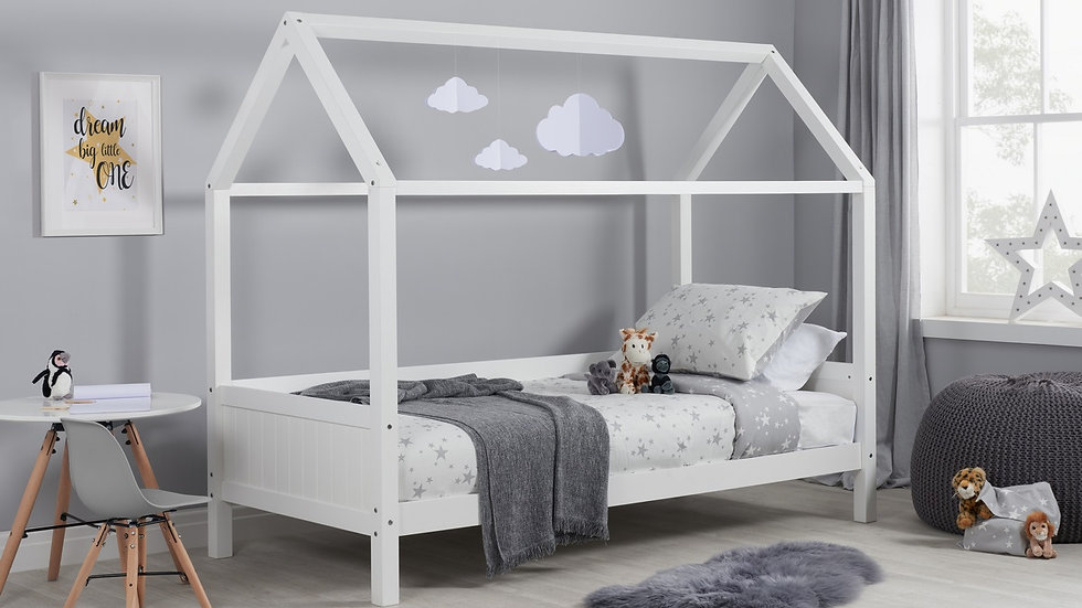 New Children's Pine Home Bed Available in Grey or White