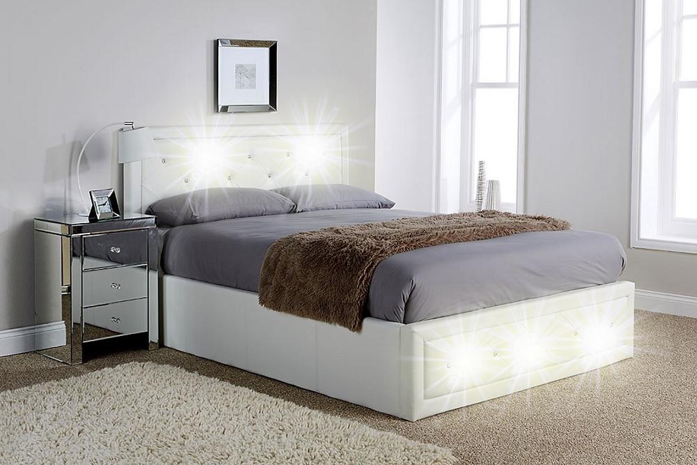 Bright Shining Diamante Bed