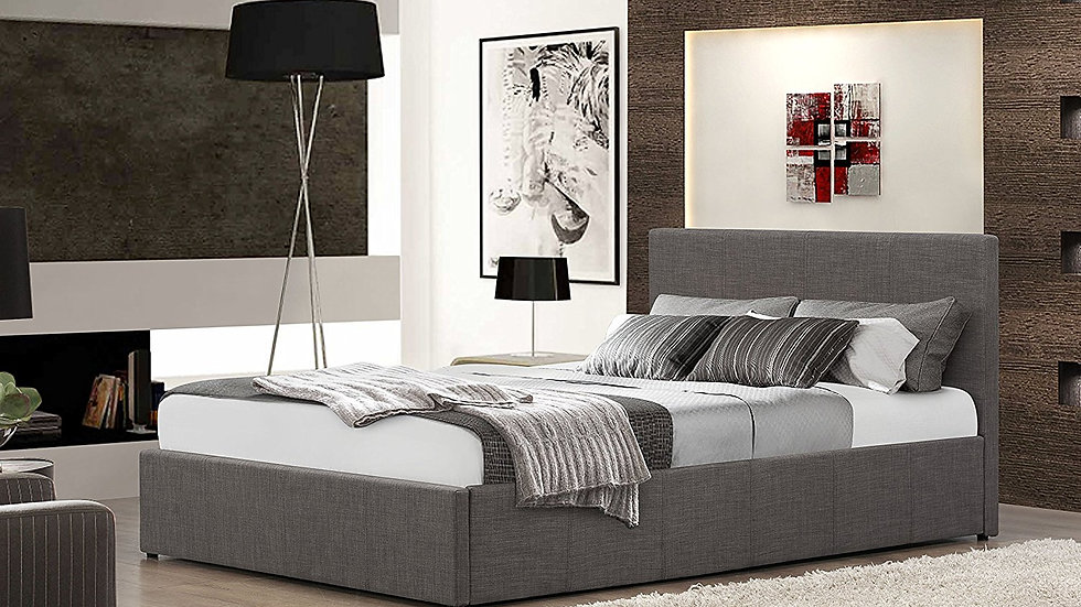 Fabric Ottoman Gas Lift Storage Bed 6 Piece Bed Set