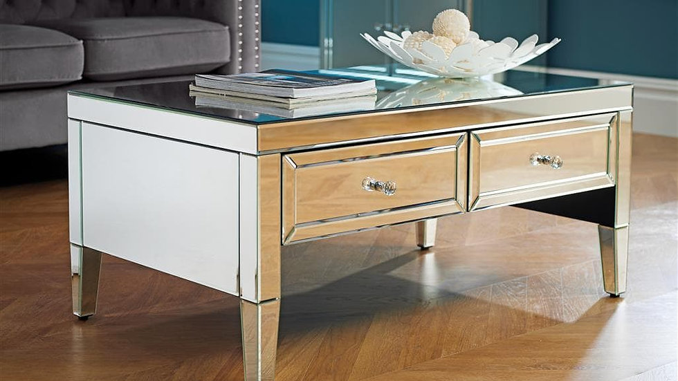 Glamorous Valencia Mirrored Coffee Table