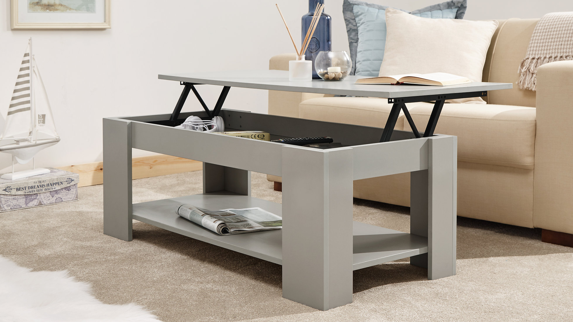 Lift Up Coffee Table With Storage 11