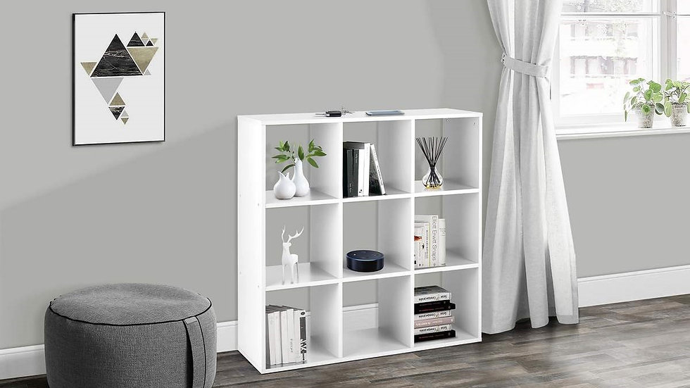 Modern Multi-Purpose 9 Boxi Shelving Unit White, Black Or Grey
