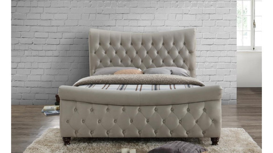 Copenhagen Fabric Sleigh Bed
