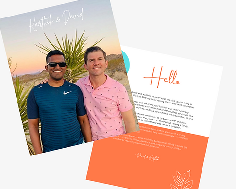 Adoption Profile Book Sample - Couple LGBT