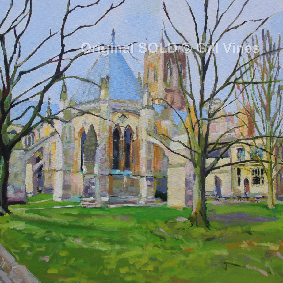 Lincoln Cathedral Early Spring 60 x 60.J