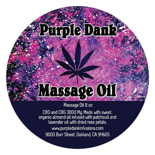 Pure Almond CBD Infused Massage Oil