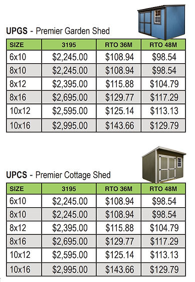 COTTAGE SHED PRICE