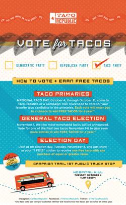 Vote For Tacos Campaign Eblast