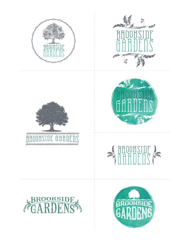 Brookeside Gardens logo concepts