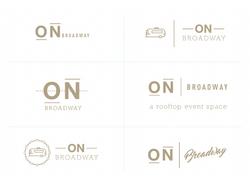 ON broadway logo options