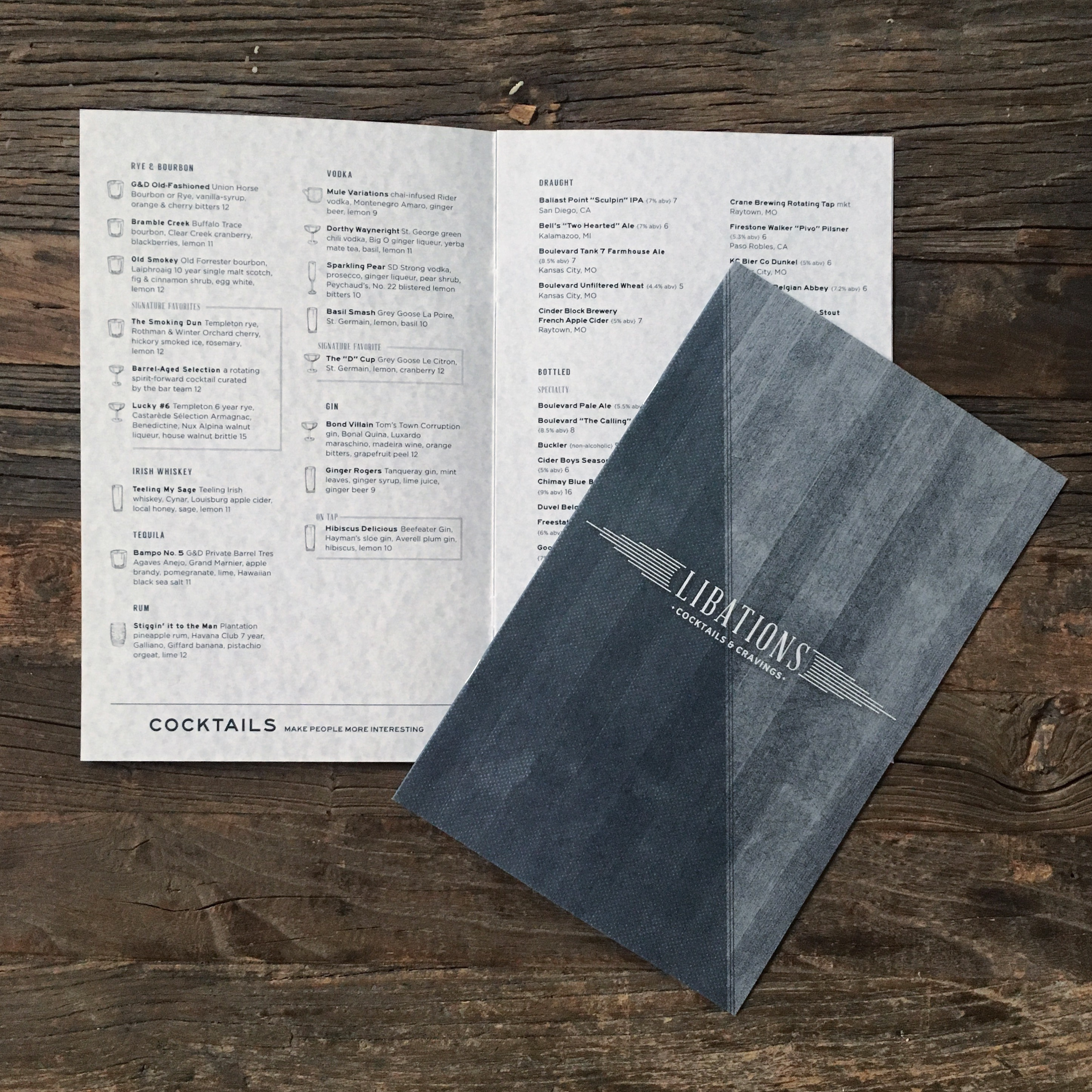 Gram & Dun Menu Design