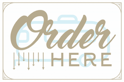 Order Here food truck sign