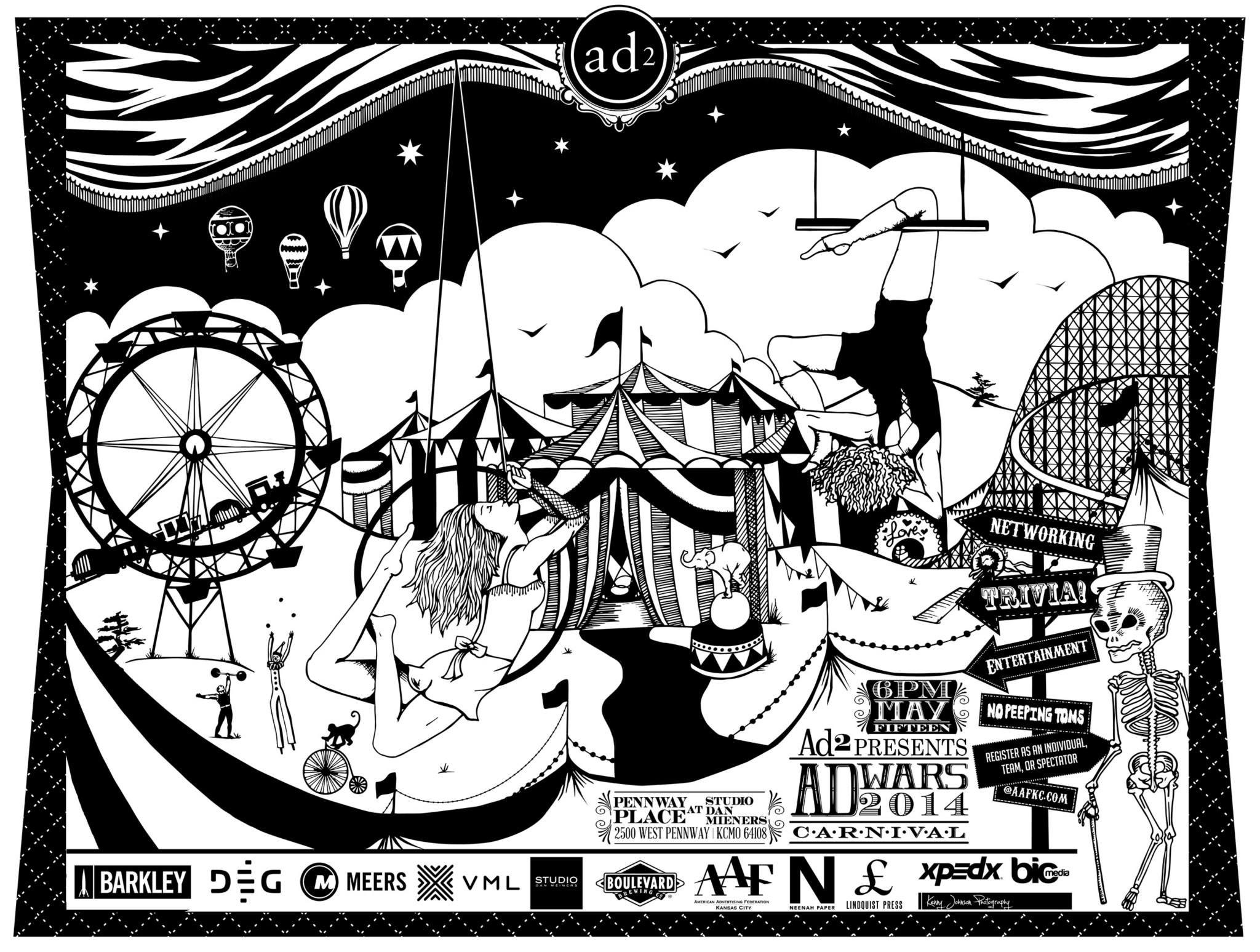 Ad Wars 2014 Letterpress Poster
