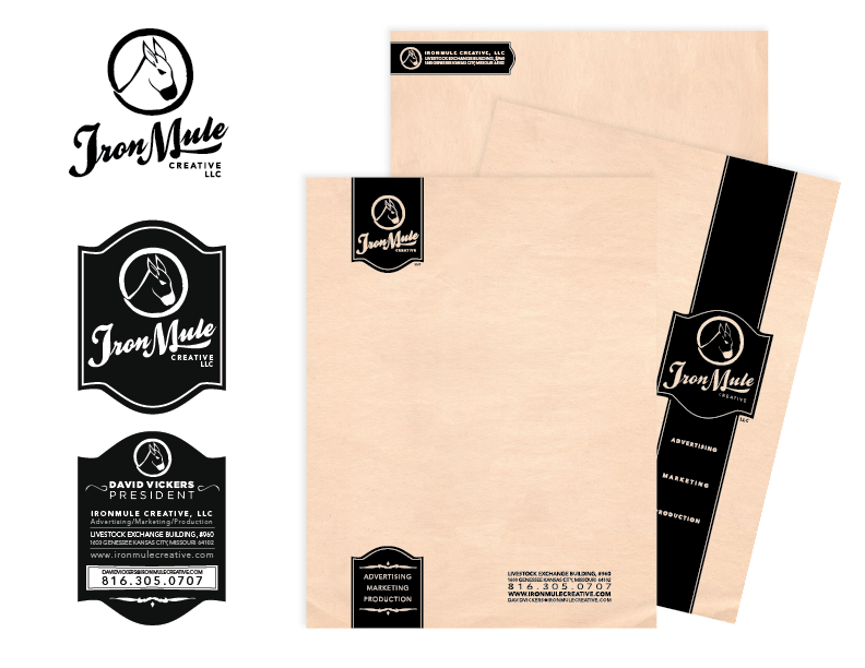 IronMule Letterhead, Logo, Biz Card