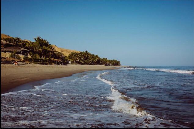 linda vista de la playa en Pocitas