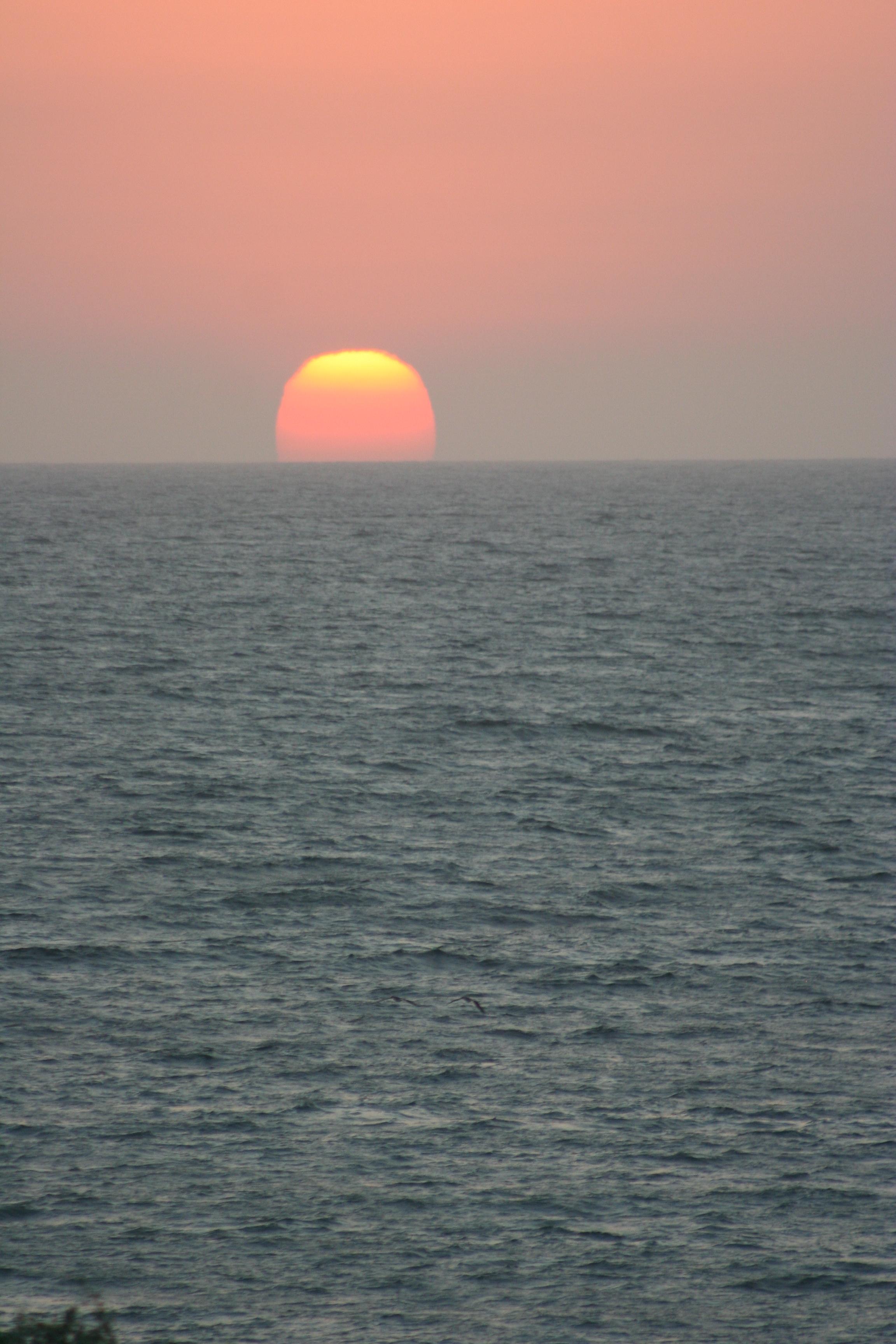 fenomenal sunset en Mancora