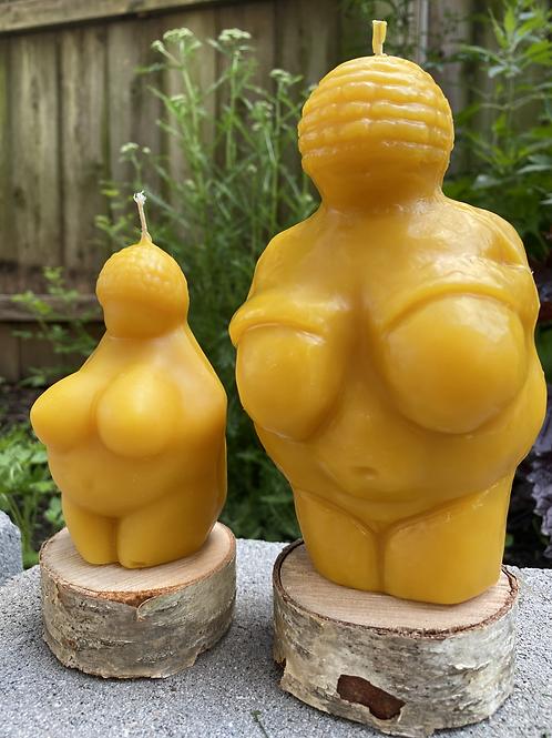 Venus of Willendorf Beeswax Candle