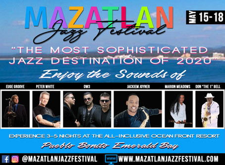 Mazatlan Jazz Festival Featuring Euge Groove, Peter White, Marion Meadows Moves to October 2020