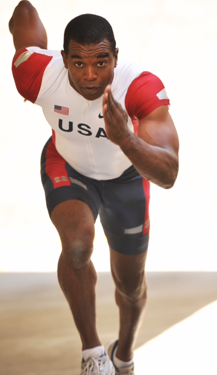 Kevin Biggers trains 4 times a week to maintain a competitive edge in track and field.  Photo courtesy of K. Biggers
