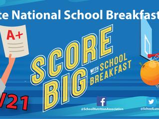 National School Breakfast Week March 8-12, 2021